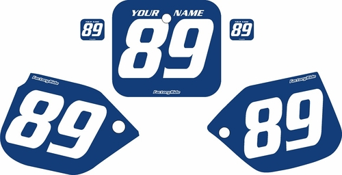 1989-1990 Honda CR125 Blue Pre-Printed Backgrounds - White Numbers by FactoryRide