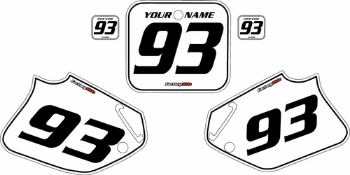 1993-1994 Honda CR125 Custom White Pre-Printed Background - Black Pinstripe by Factory Ride