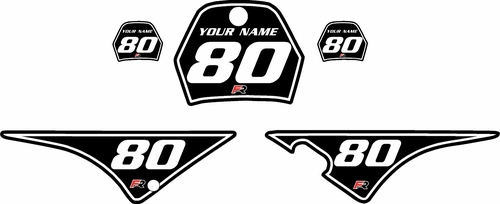 1996-2013 Yamaha PW80 Black Pre-Printed Background - White Pinstripe by Factory Ride