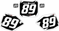 1989-1990 Honda CR500 Pre-Printed Backgrounds Black - White Shock Series by FactoryRide
