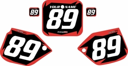 1989-1990 Honda CR500 Pre-Printed Backgrounds Black - Red Shock Series by FactoryRide