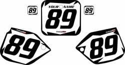 1989-1990 Honda CR500 Pre-Printed Backgrounds White - Black Shock Series by FactoryRide