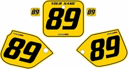 1989-1990 Honda CR500 Pre-Printed Backgrounds Yellow - Black Pinstripe by FactoryRide