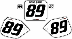 1989-1990 Honda CR500 Pre-Printed Backgrounds White - Black Pinstripe by FactoryRide