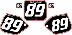 1989-1990 Honda CR500 Pre-Printed Backgrounds Black - Red Pro Pinstripe by FactoryRide