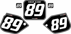 1989-1990 Honda CR500 Pre-Printed Backgrounds Black - White Pinstripe by FactoryRide