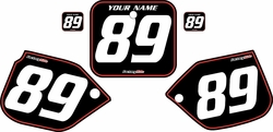 1989-1990 Honda CR500 Pre-Printed Backgrounds Black - Red Pinstripe by FactoryRide
