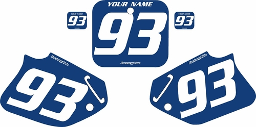 1993-1994 Honda CR125 Blue Pre-Printed Backgrounds - White Numbers by FactoryRide