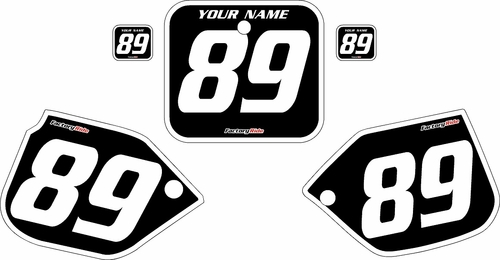1989-1990 Honda CR500 Pre-Printed Backgrounds Black - White Bold Pinstripe by FactoryRide