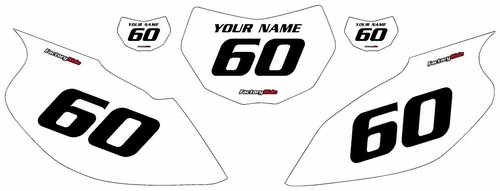 1997-2005 Yamaha TTR600 White Pre-Printed Background - Black Numbers by Factory Ride