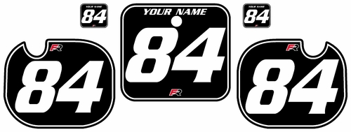 1984 Honda CR500 Black Pre-Printed Backgrounds - White Pinstripe by Factory Ride