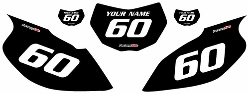 1997-2005 Yamaha TTR600 Black Pre-Printed Background - White Numbers by Factory Ride