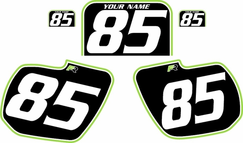 1984 Kawasaki KX125 Custom Pre-Printed Background Black - Green Pro Pinstripe by Factory Ride