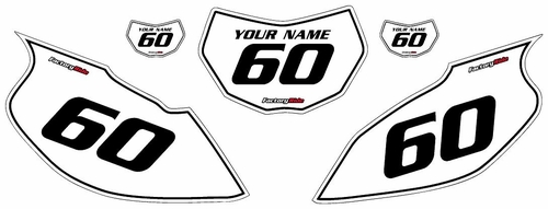 1997-2005 Yamaha TTR600 White Pre-Printed Background - Black Pinstripe by Factory Ride