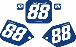 1987-1988 Honda CR125 Blue Pre-Printed Backgrounds - White Numbers by FactoryRide