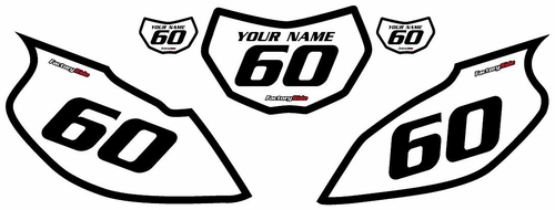 1997-2005 Yamaha TTR600 White Pre-Printed Background - Black Bold Pinstripe by Factory Ride