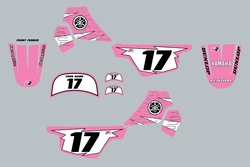 Yamaha PW50 Pink Decal Graphics kit by Factory Ride