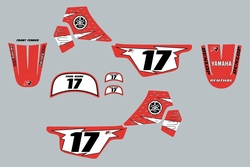 Yamaha PW50 Red Graphics kit Decals by Factory Ride
