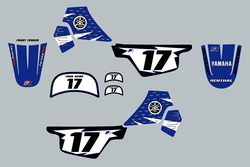 Yamaha PW50 Blue and Black Graphics kit Decals by Factory Ride