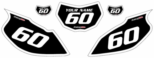 1997-2005 Yamaha TTR600 Black Pre-Printed Background - White Bold Pinstripe by Factory Ride
