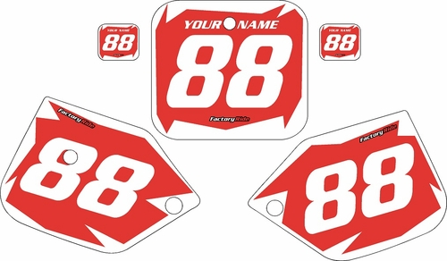 1987-1988 Honda CR125 Pre-Printed Backgrounds Red - White Shock Series by FactoryRide