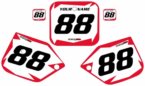 1987-1988 Honda CR125 White Pre-Printed Background - Red Shock Series by FactoryRide
