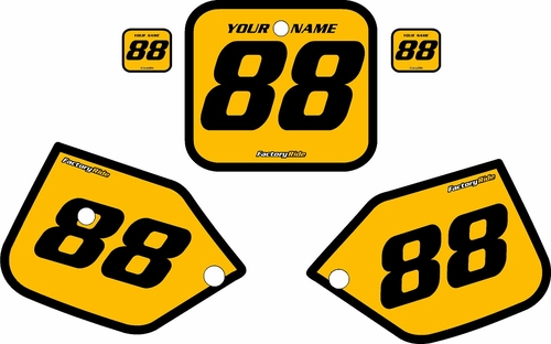 1987-1988 Honda CR125 Pre-Printed Backgrounds Yellow - Black Bold Pinstripe by FactoryRide