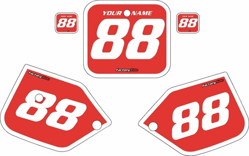 1987-1988 Honda CR125 Pre-Printed Backgrounds Red - White Bold Pinstripe by FactoryRide