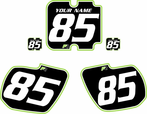 1985-1986 Kawasaki KX500 Custom Pre-Printed Background Black - Green Pro Pinstripe by Factory Ride