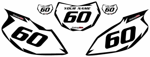 1997-2005 Yamaha TTR600 White Pre-Printed Background - Black Shock Series by Factory Ride