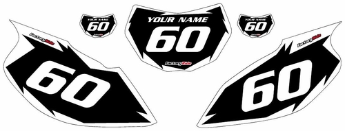 1997-2005 Yamaha TTR600 Black Pre-Printed Background - White Shock Series by Factory Ride