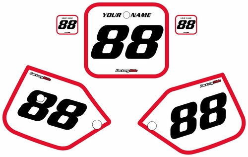 1987-1988 Honda CR125 White Pre-Printed Background - Red Bold Pinstripe by FactoryRide