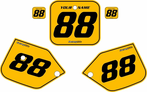 1987-1988 Honda CR125 Pre-Printed Backgrounds Yellow - Black Pinstripe by FactoryRide