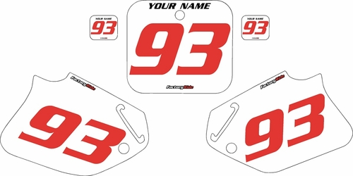 1993-1994 Honda CR125 Pre-Printed Backgrounds White - Red Numbers by FactoryRide