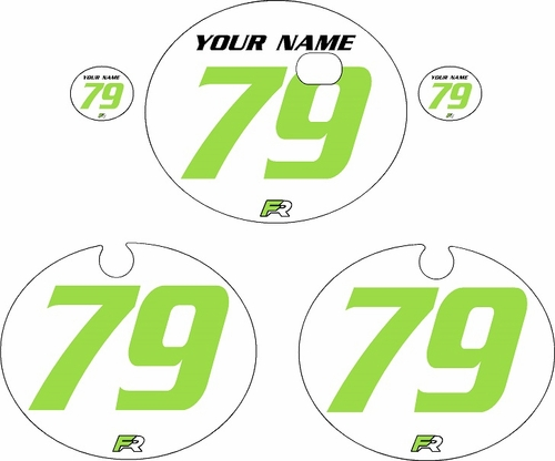 1979 Kawasaki KX250 White Pre-Printed Backgrounds - Green Numbers by FactoryRide