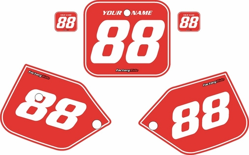1987-1988 Honda CR125 Pre-Printed Backgrounds Red - White Pinstripe by FactoryRide