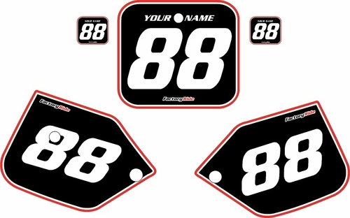 1987-1988 Honda CR125 Pre-Printed Backgrounds Black - Red Pro Pinstripe by FactoryRide
