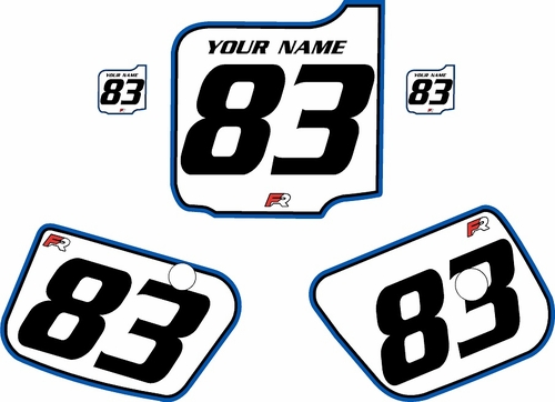 1983 Husqvarna CR250 Pre-Printed Backgrounds White - Blue Pro Pinstripe by FactoryRide