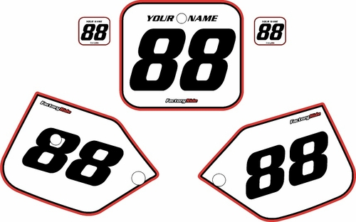 1987-1988 Honda CR125 Pre-Printed Backgrounds White - Red Pro Pinstripe by FactoryRide
