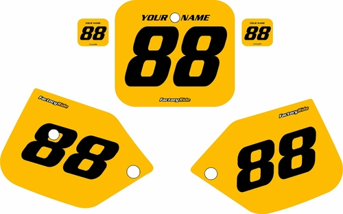 1987-1988 Honda CR125 Pre-Printed Backgrounds Yellow - Black Numbers by FactoryRide