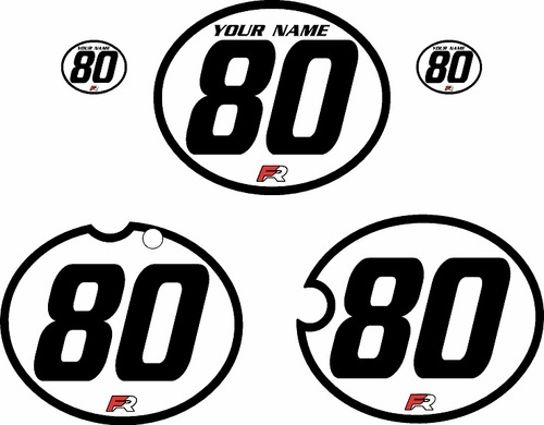 1980-1981 Yamaha YZ250 Custom Pre-Printed White Background - Black Bold Pinstripe by Factory Ride