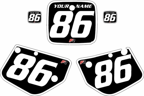 1986-1988 Yamaha YZ125 Custom Pre-Printed Black Background - White Bold Pinstripe by Factory Ride