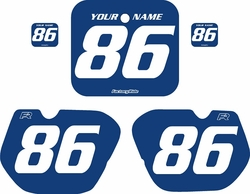 1985-1986 Honda CR125 Blue Pre-Printed Backgrounds - White Numbers by FactoryRide