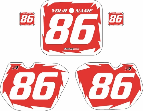 1985-1986 Honda CR125 Pre-Printed Backgrounds Red - White Shock Series by FactoryRide