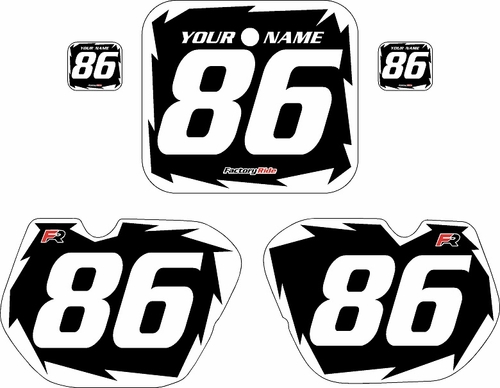 1985-1986 Honda CR125 Pre-Printed Backgrounds Black - White Shock Series by FactoryRide
