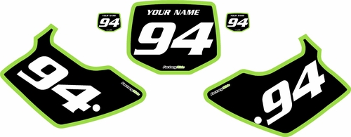 1994-1998 Kawasaki KX125 Pre-Printed Backgrounds Black - Green Bold Pinstripe by FactoryRide