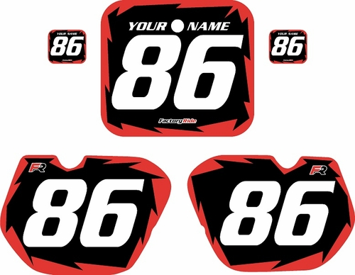 1985-1986 Honda CR125 Pre-Printed Backgrounds Black - Red Shock Series by FactoryRide