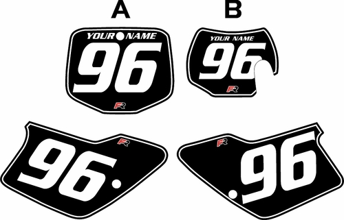 1996-2001 GAS GAS EC125 Custom Pre-Printed Background Black - White Pinstripe by Factory Ride