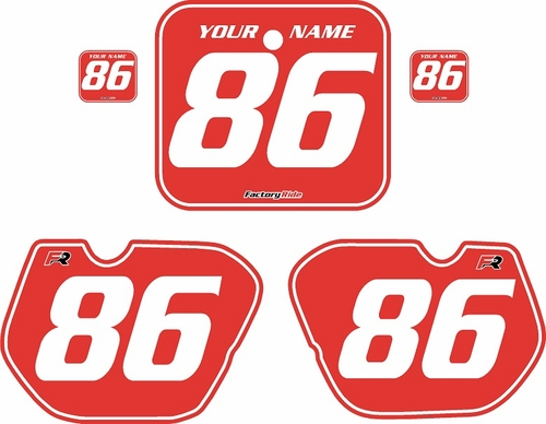1985-1986 Honda CR125 Pre-Printed Ba ckgrounds Red - White Pinstripe by FactoryRide
