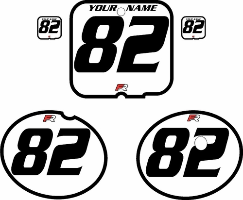 1981 Suzuki RM250 White Pre-Printed Backgrounds - Black Bold Pinstripe by FactoryRide